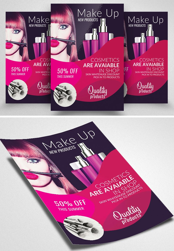 Beauty Cosmetic Discount Offer Flyer