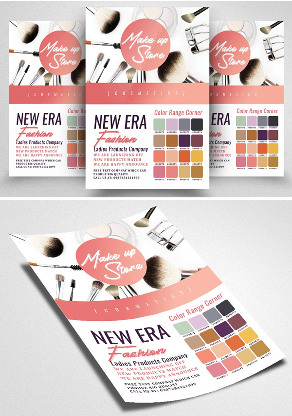 Beauty Make-Up Cosmetic Flyer Design