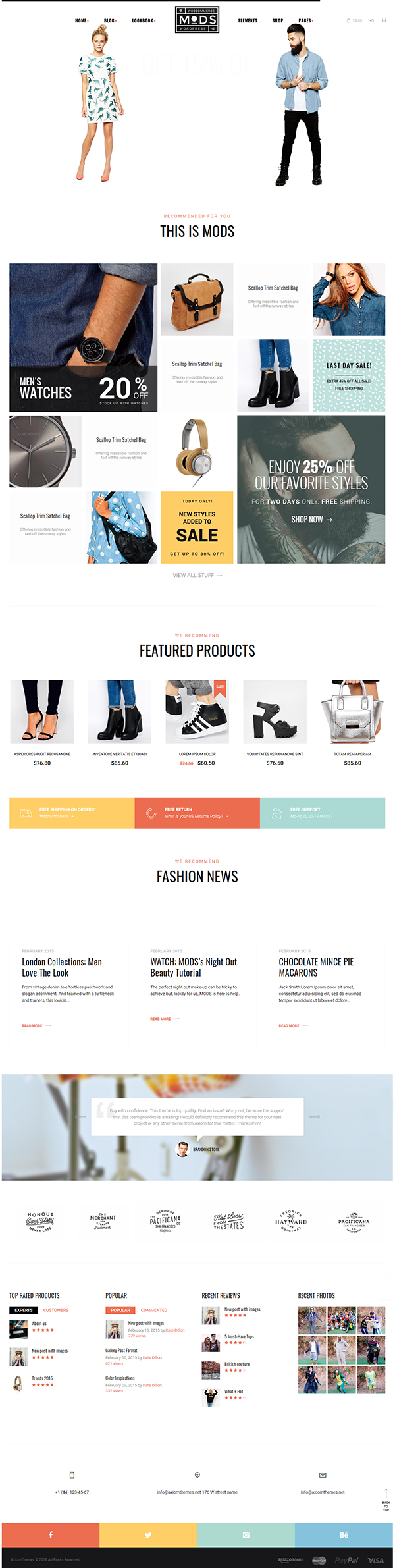 MODS - Shop & Fashion Blog WP Theme