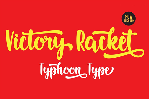 Victory Racket Font
