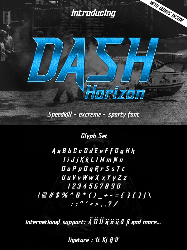 Dash Horizon - Sporty Display Font