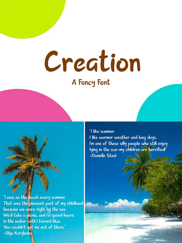 Creation | A Fancy Font