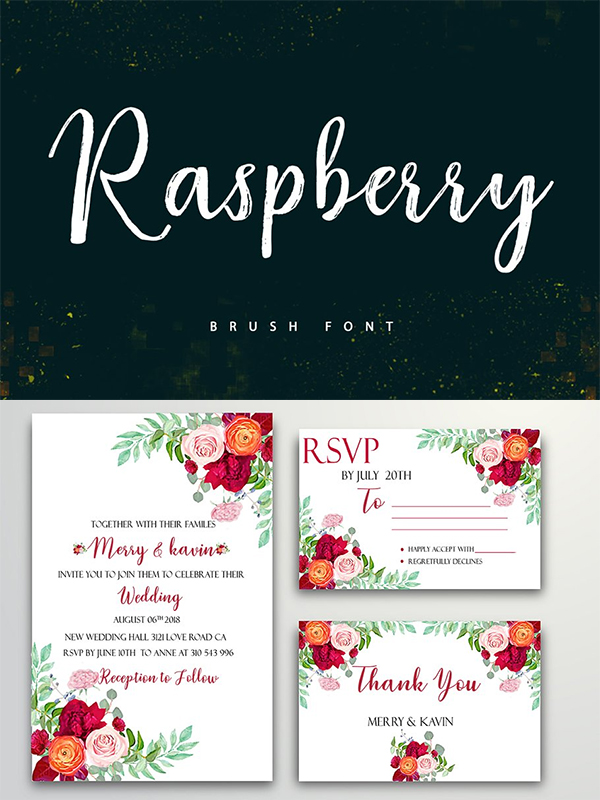 Raspberry Font Duo Design