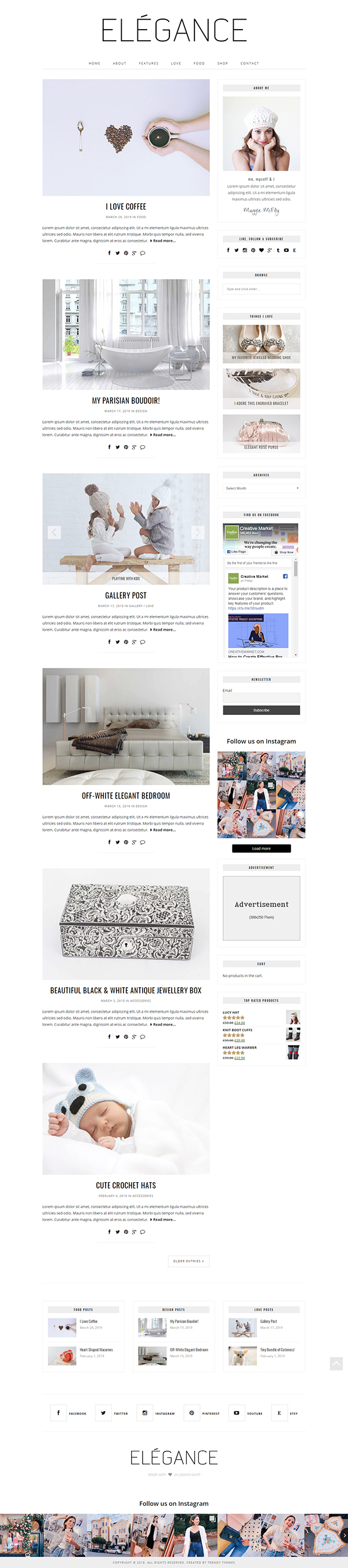 Minimal WordPress Theme Elégance