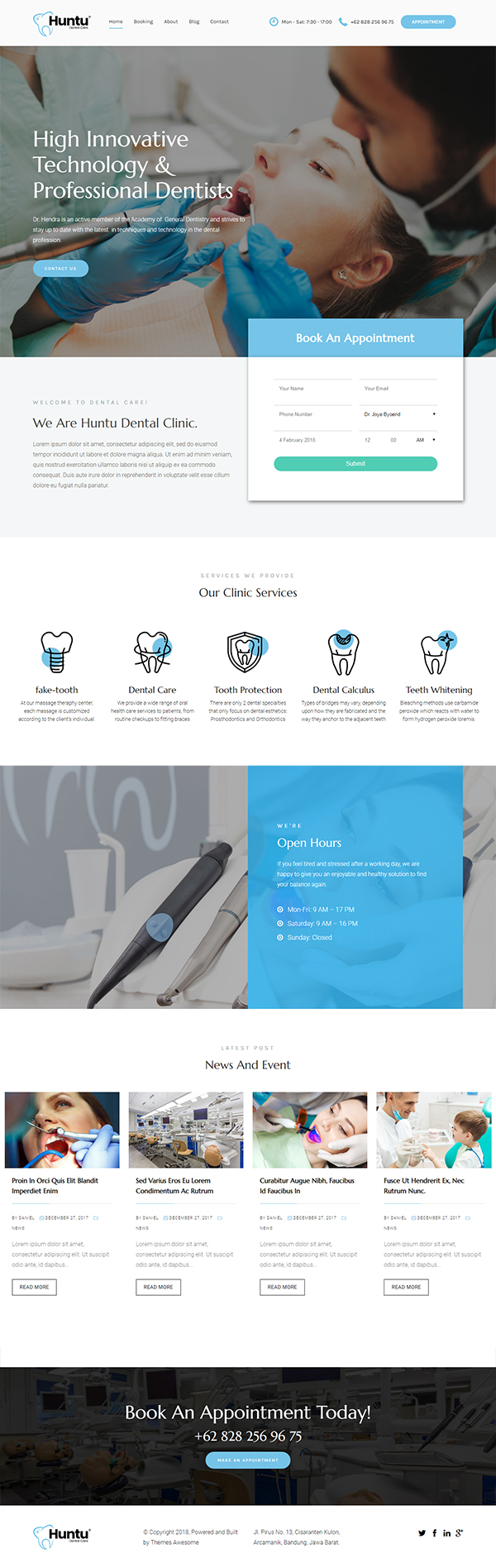 Huntu - Dental Clinic Theme