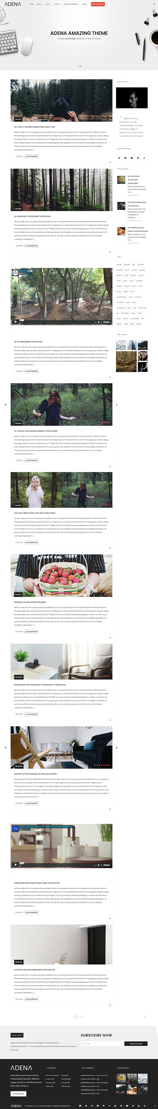 ADENA - Amazing Minimal WP Theme