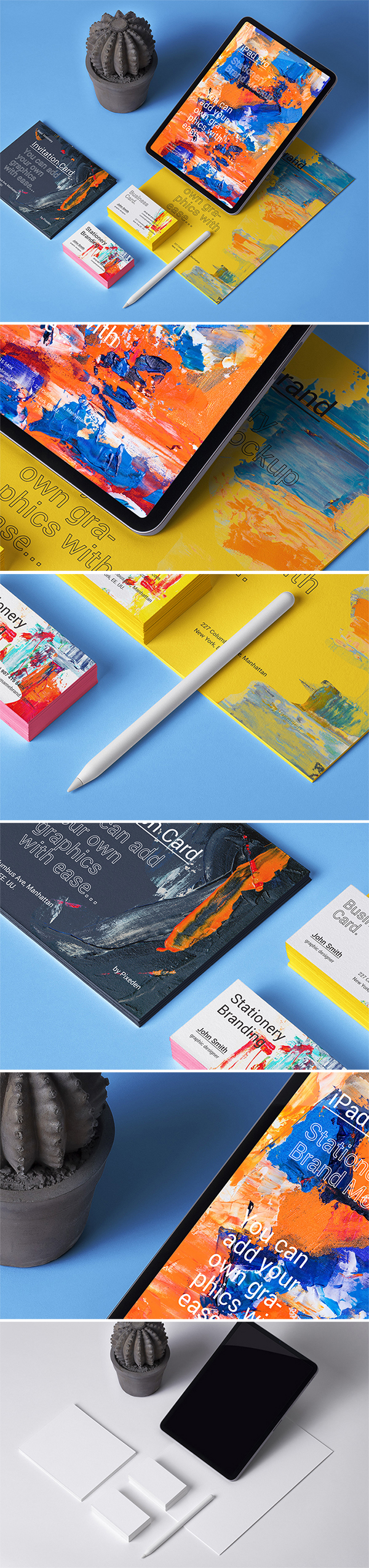 Free Download Creative iPad Stationery Mockup (PSD)