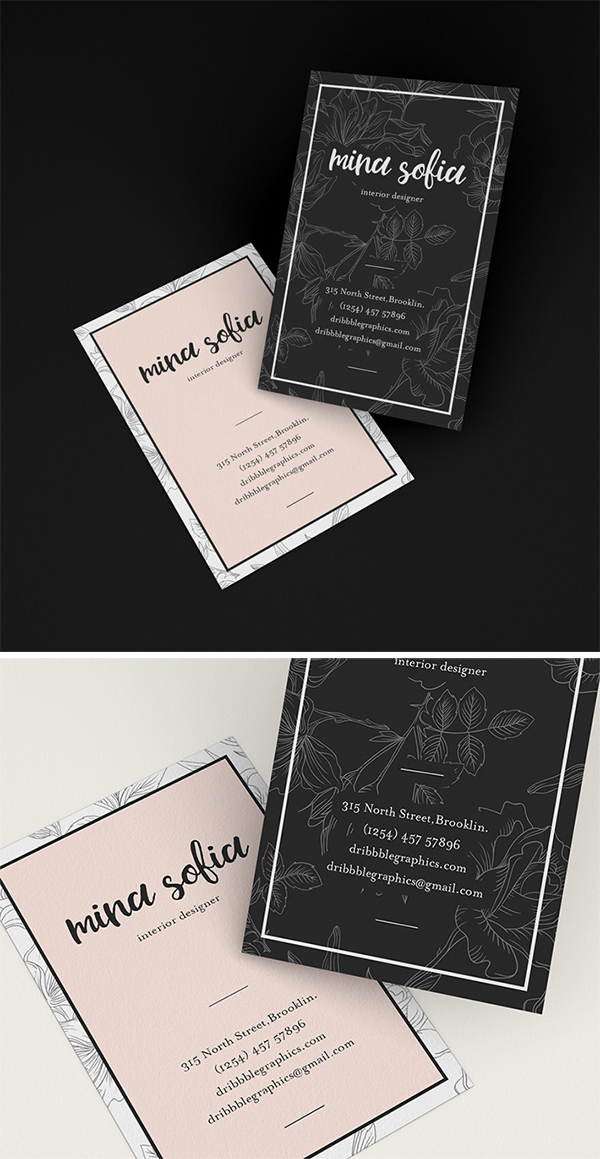 Creative Brand Business Card PSD Mockup Free Download