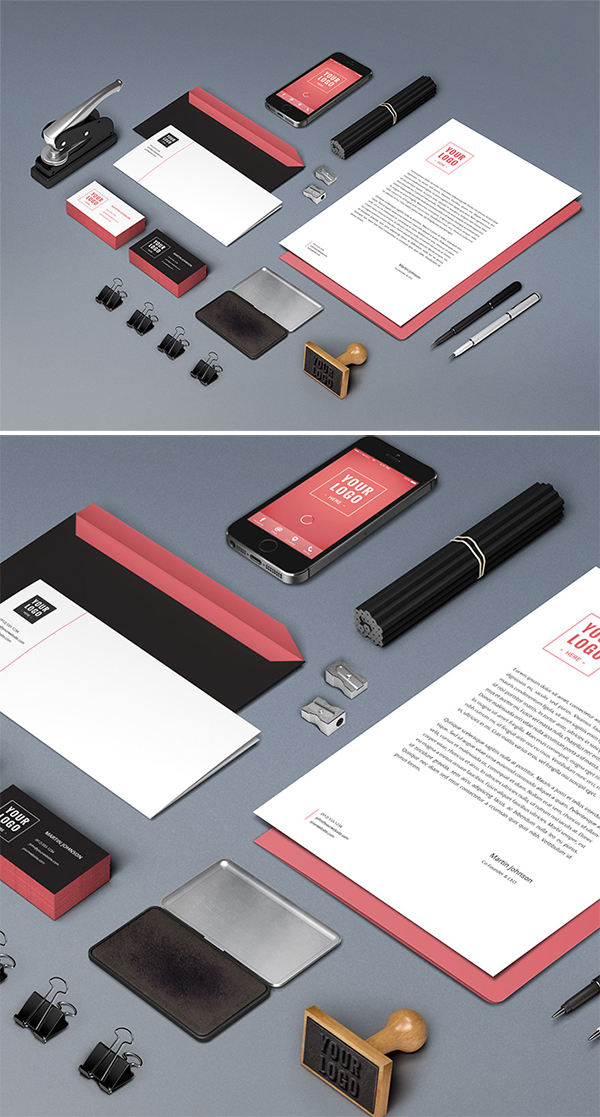 Free Download Creative Branding Stationery Mockup (PSD)