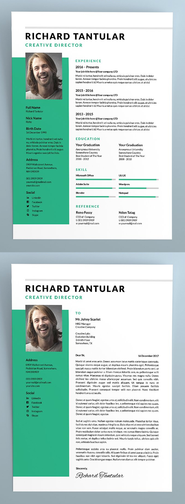 simple Creative Resume / CV