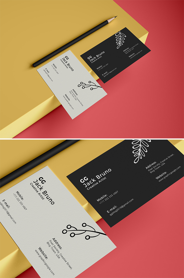 Free Brand Business Card Mockup 2019