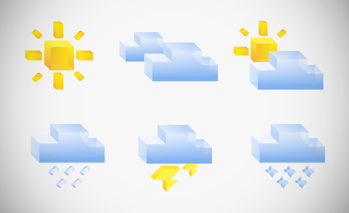 Isometric Weather Icons