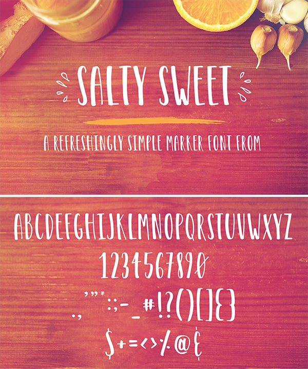 Free Download Elegant Salty Sweet Marker Font For Designers