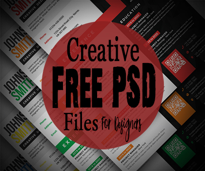 Freebie : Amazing & Creative Free PSD Files For Designers