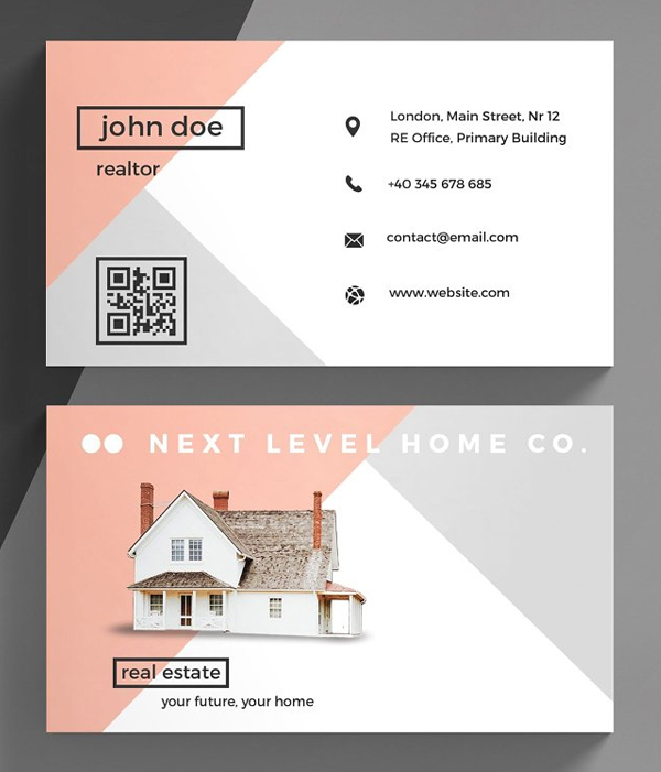 Stylish Real Estate Business Card Template