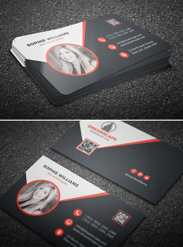 Black Real Estate Business Card