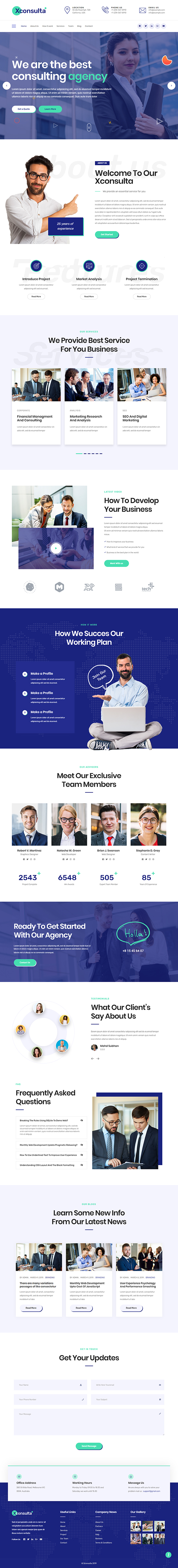 Xconsulta - WordPress theme for business & startup landing page