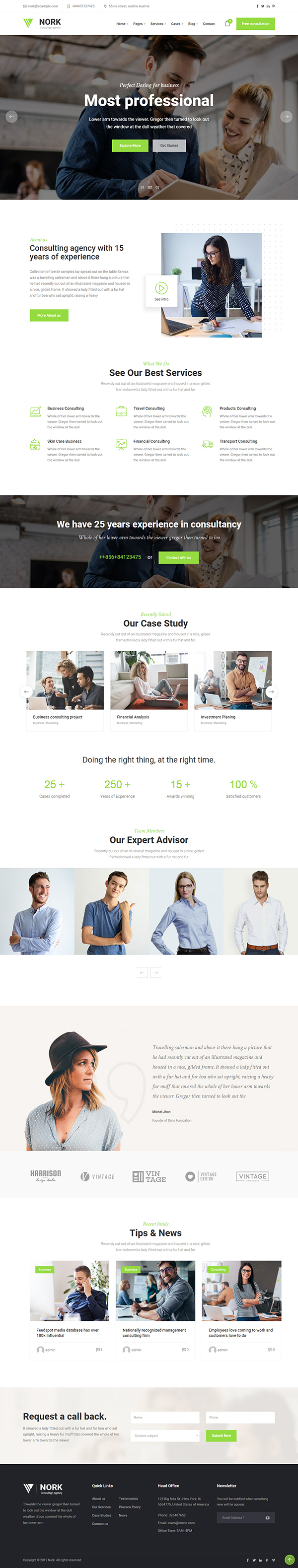 Nork - Business, Advice WordPress Theme