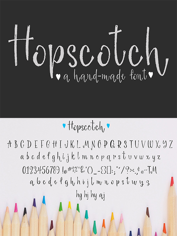Hopscotch Hand Made Font