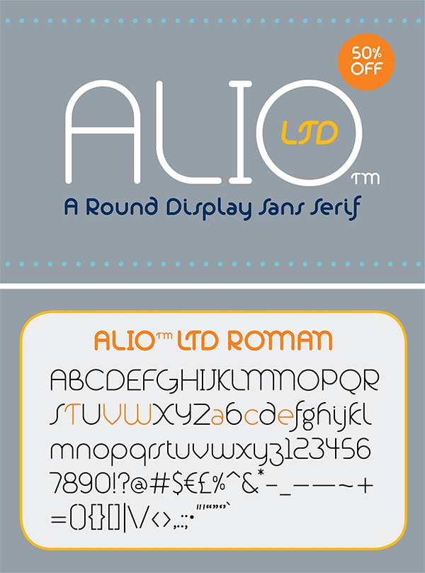 Round Display Sans Serif Font