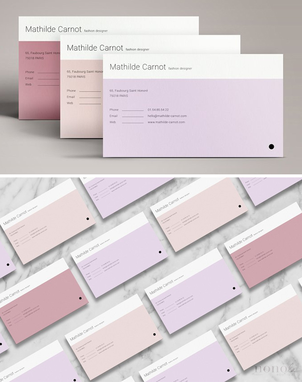 Pastel Business Cards