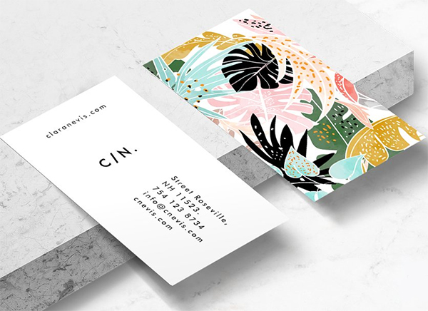 Tropical || Business Card Template