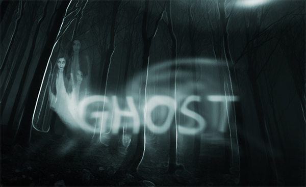 Spooky Ghost Text Effect Photoshop Tutorial