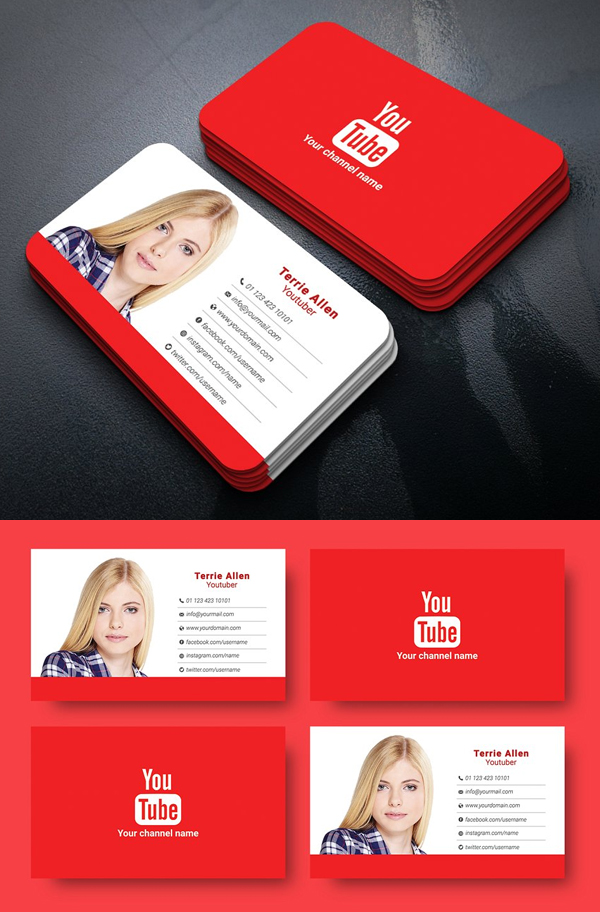 Youtuber Business Card