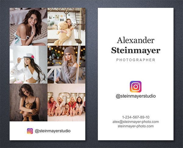 Instagram Business Card Template