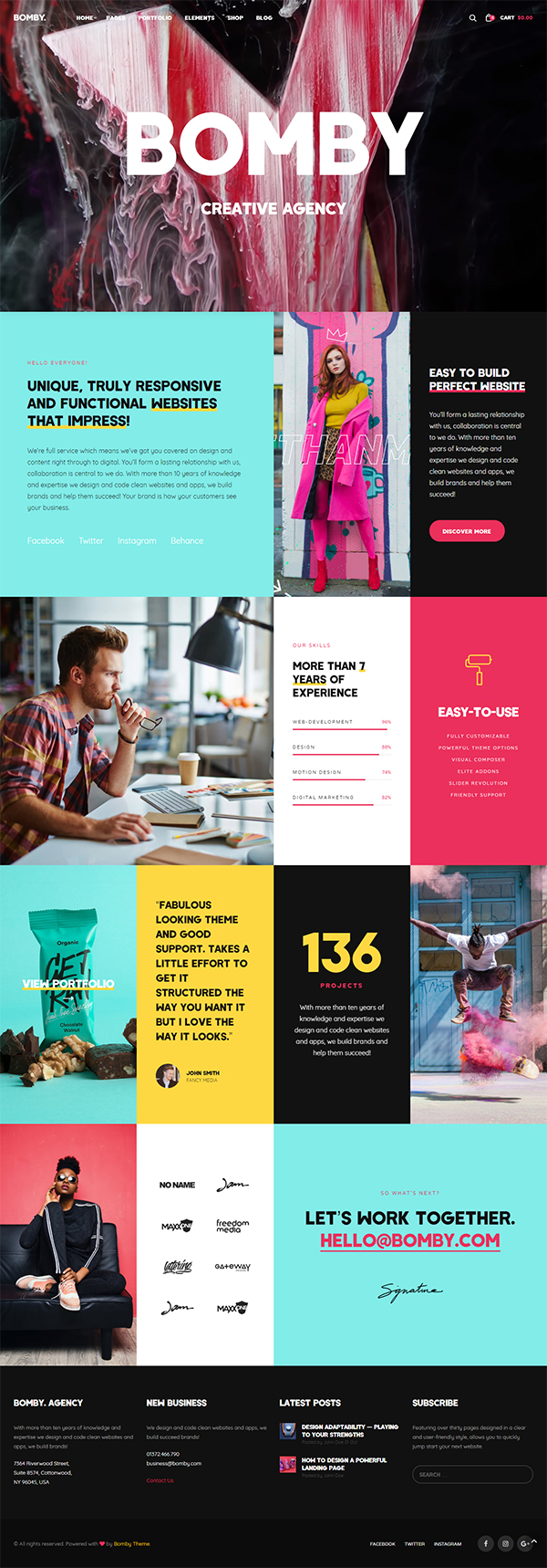 Bomby - Creative Multi-Purpose WordPress Theme