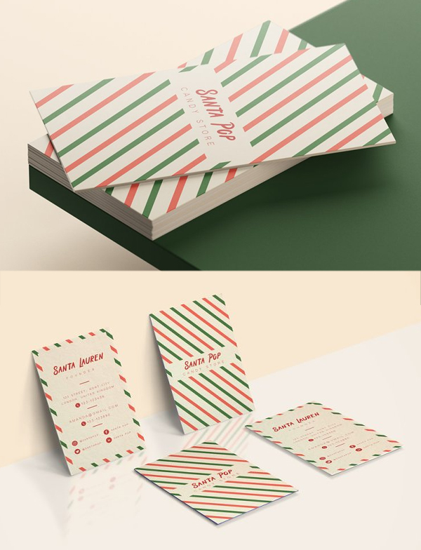 Santa Pop Business Cards