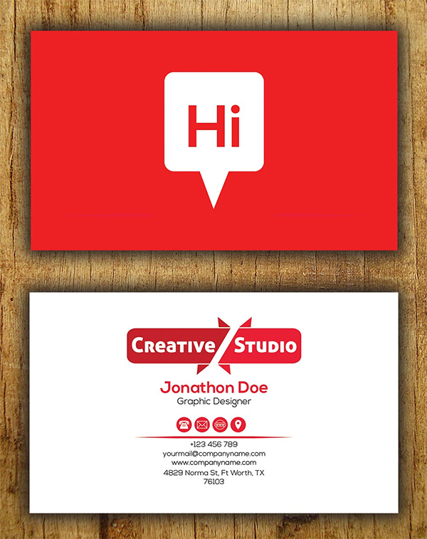 Hi Business Card Template