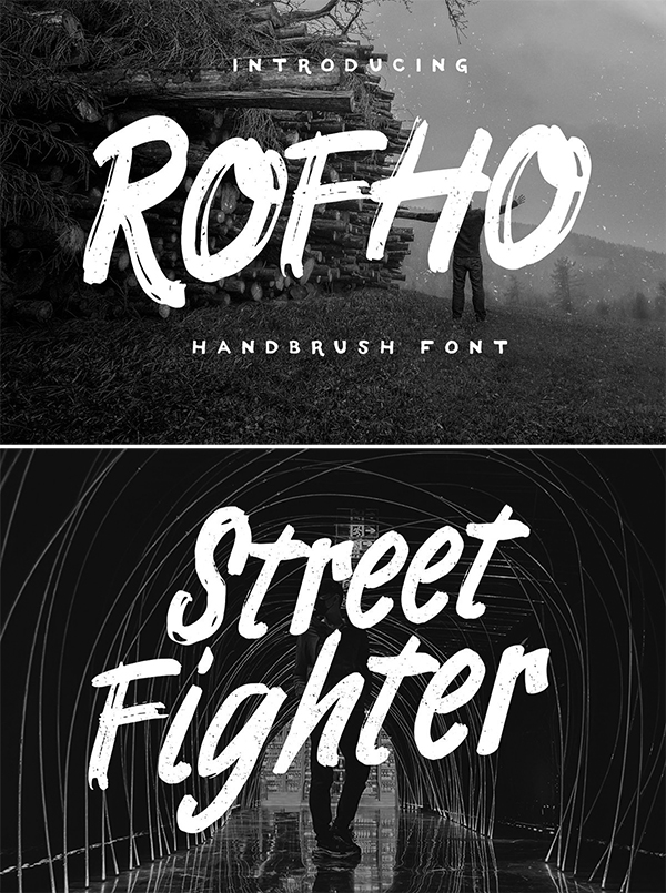 60 Best Brush Fonts For Graphic Designers - 10