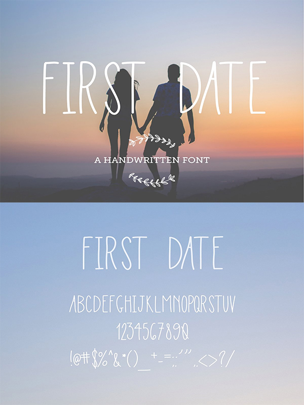 First Date Handwritten Font