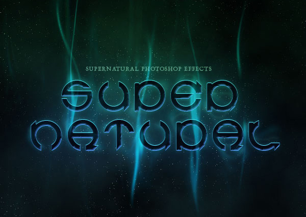 A Slick Supernatural Text Effect