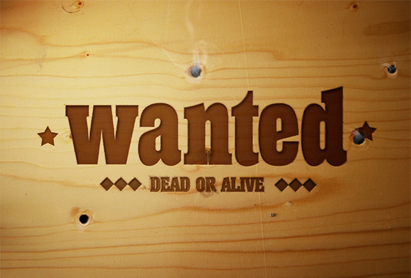 How to Put Smokin' Bullet Holes and a Wanted Sign into a Piece of Wood