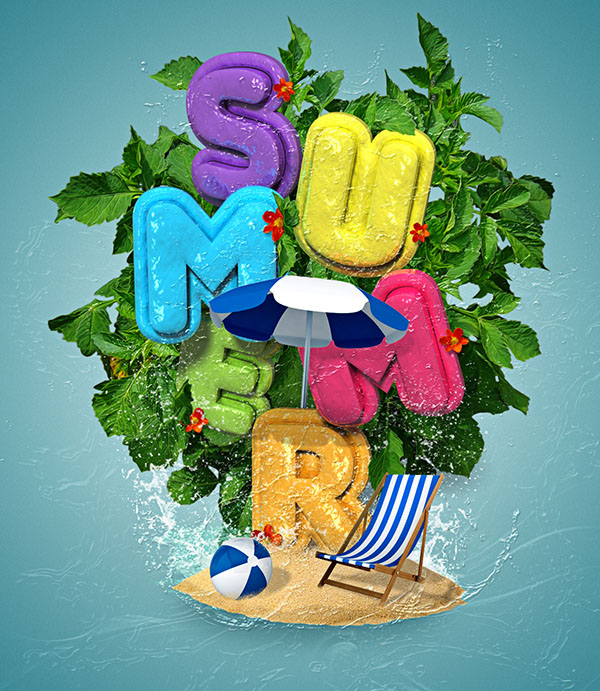 How to Create a Colorful, Summery 3D Text Effect in Adobe Photoshop