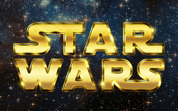 Create a Retro Star Wars Inspired Text Effect in Adobe Photoshop