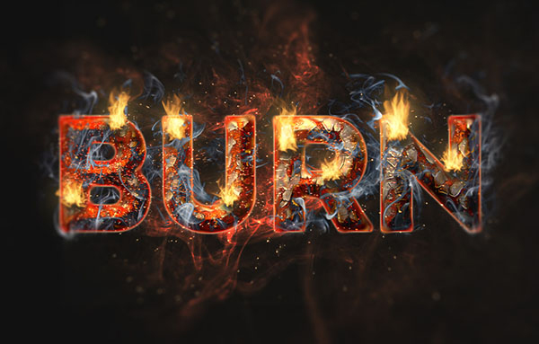 Create a Fire and Rust Text Effect Using the Flame Filter in Adobe Photoshop