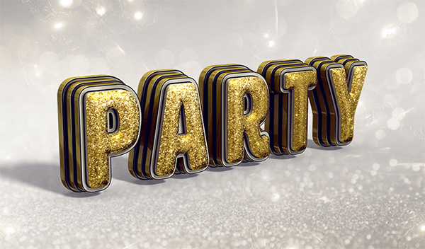 How to Create a Glittering, Festive, 3D Text Effect in Adobe Photoshop