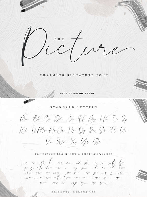 The Picture | Signature Font