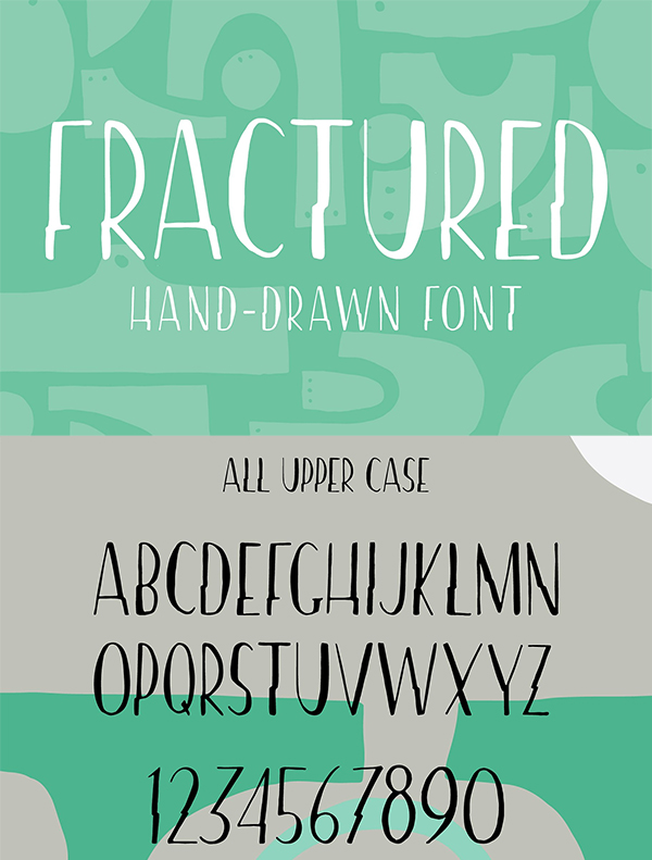 Fractured | Hand drawn Font