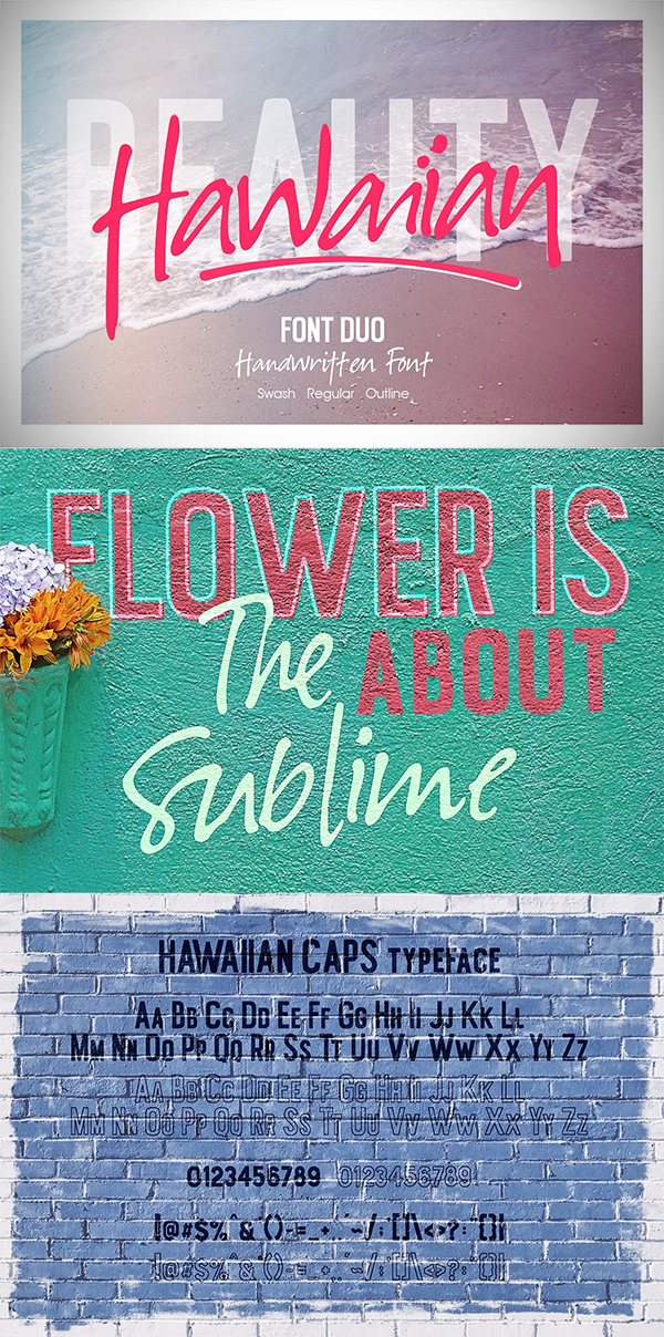 Hawaiian Font Duo + Swash