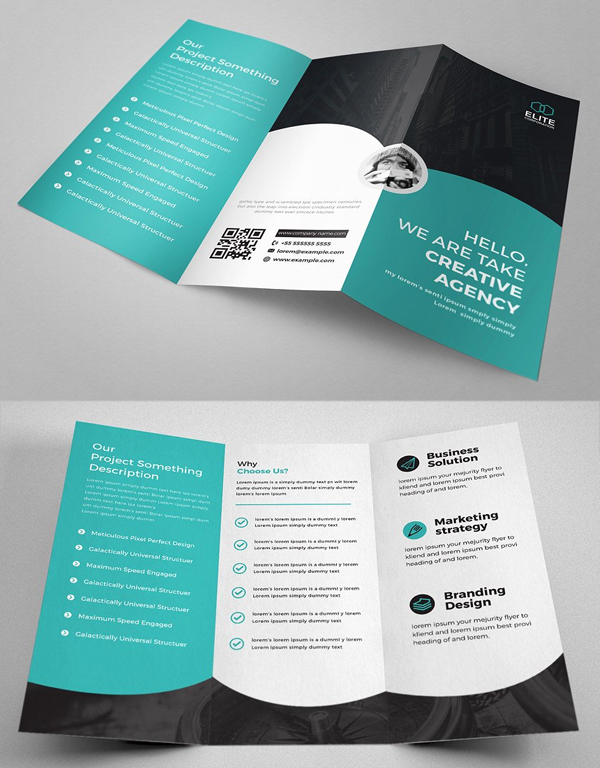 Creative and Minimalist Trifold Brochure