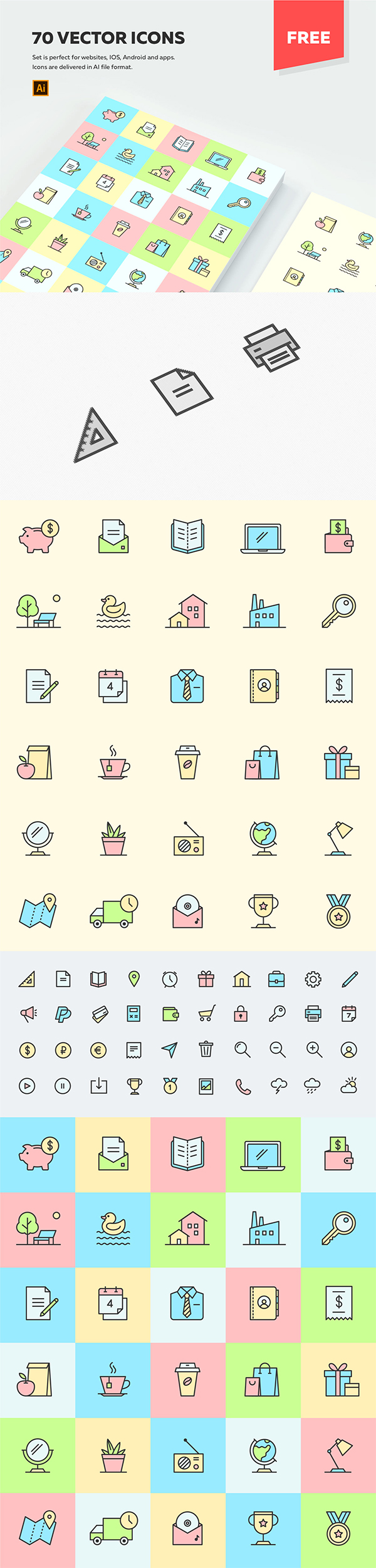 Freebie : Creative Multi-Purpose Icons