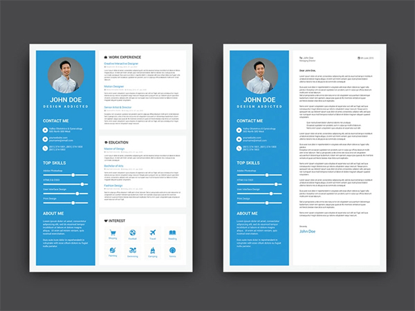 Free Blue CV / Resume Template