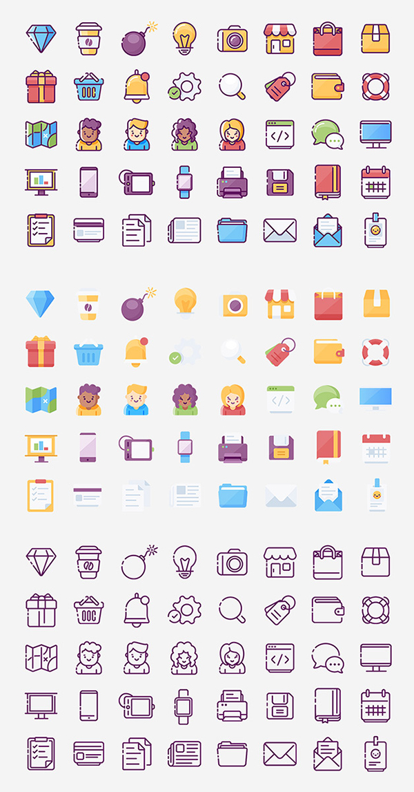 Web & Mobile Icons Bundle