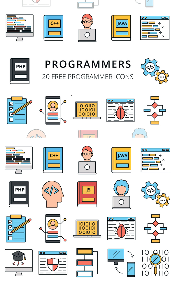 Programmers Vector Free Icon Set