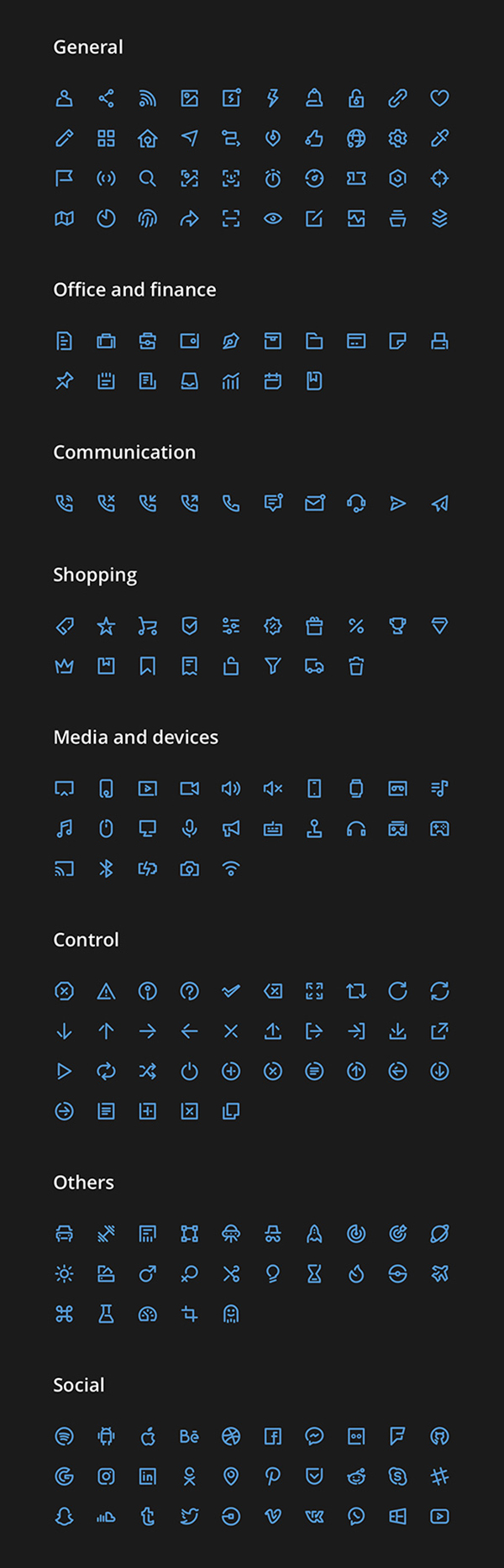 Unicons Icons Set