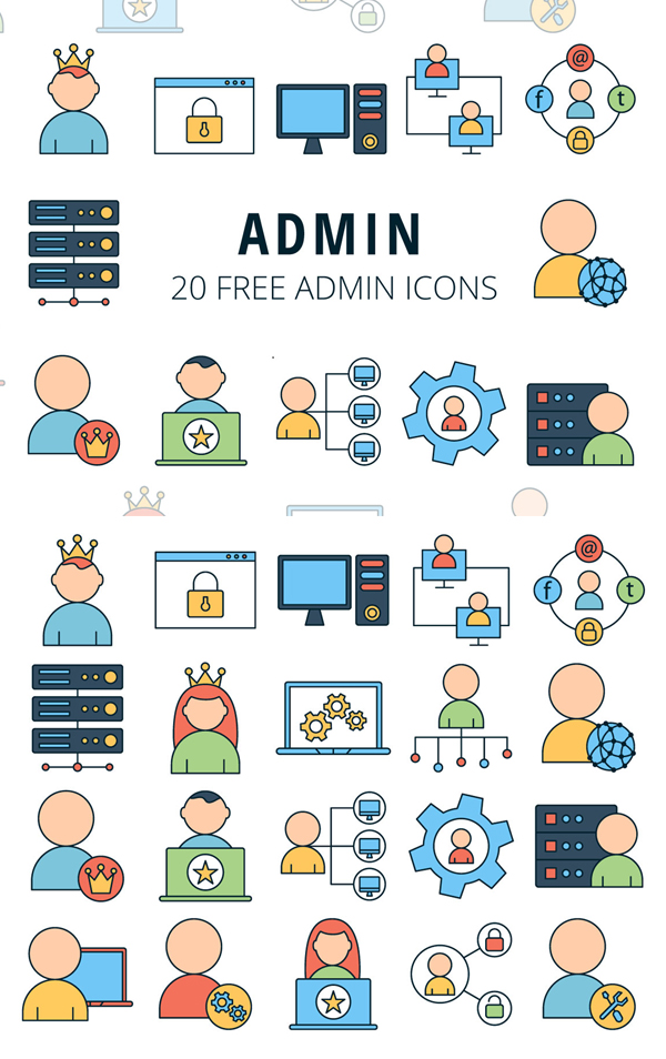 Admin Vector Free Icon Set